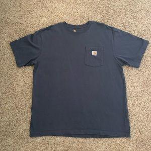 Carhartt t shirt men's large navy